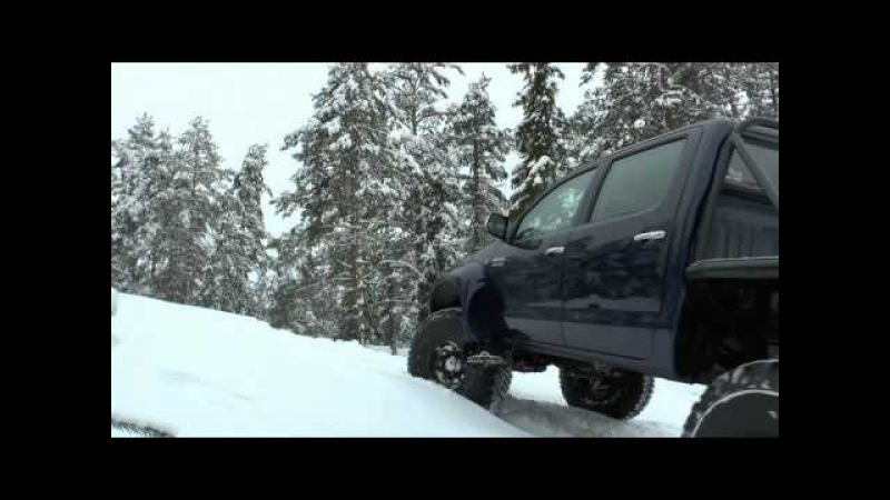 Тест-драйв Toyota Hilux Arctic Trucks AT38 6x6 (Трейлер)