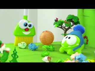 АМ НЯМ мусорит. Мультик с игрушками. Игры для детей