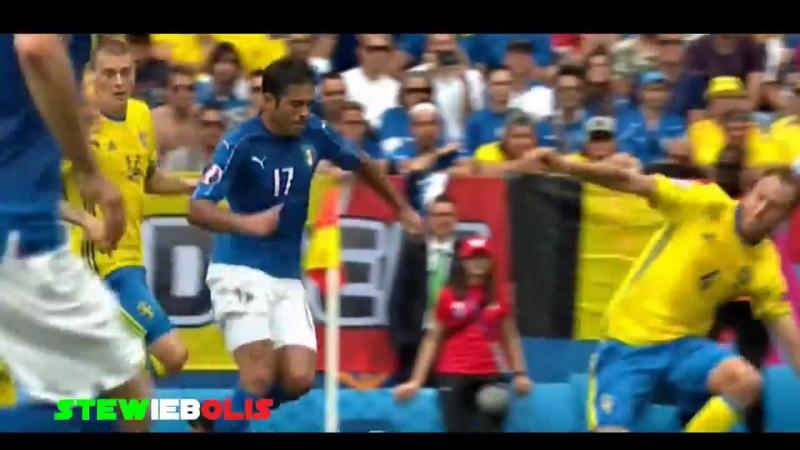 Italia Vs Svezia 1-0 — Il Goal di Eder Euro 2016