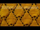 Crochet: Punto Hojas en Relieves paso a paso para chales y gorros