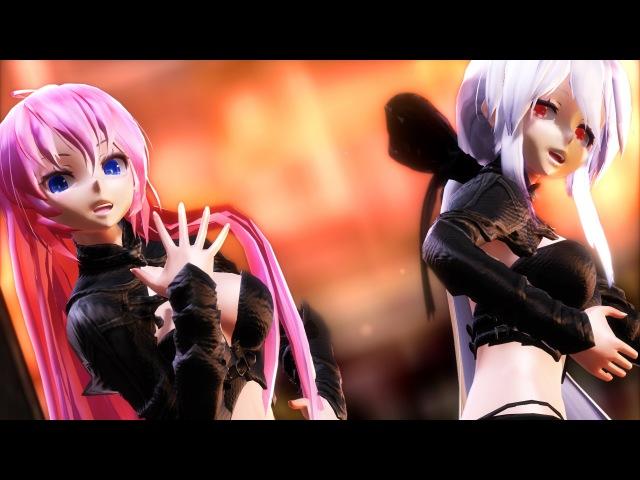 【MMD】ヒビカセ/Resonate - TDA Haku X Luka Umineko HD 1080p