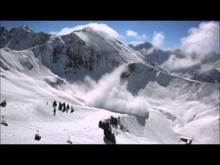 Lawine überrascht Skifahrer an der Kanzelwand Oberstdorf Ostern 2016 - snow avalanche