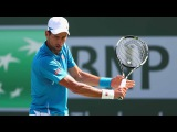 Djokovic Hits Hot Pass Against Raonic Indian Wells 2016