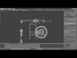 Blender 2.66 How to rig a pumpjack oilpump.