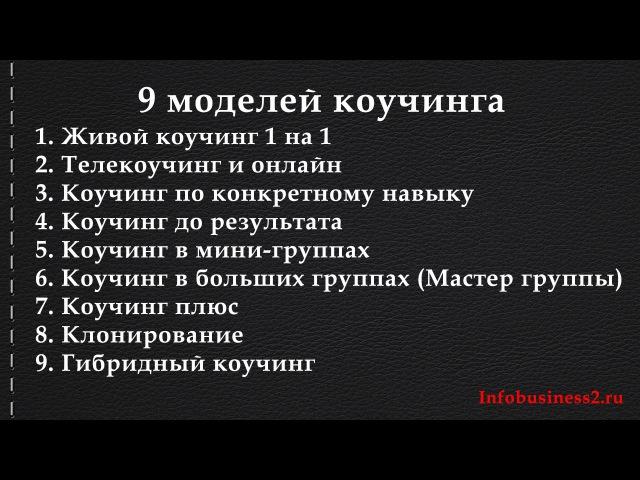 Коучинг 9 моделей коучинга Андрей Парабеллум Вебинары