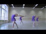 The best! 1 part video-Akad.Vaganova.2012.Ekz.5 balet.klass.new girls.teacher.M.A.Gribanova.