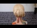 Причёска на выпускной, вечерняя-свадебная причёска Пучок из волос на средние, длинные волосы