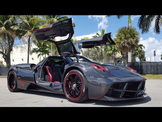 Pagani Huayra Diablo Startup Sound and Revving Drive Interior Exterior in Prestige Imports Miami