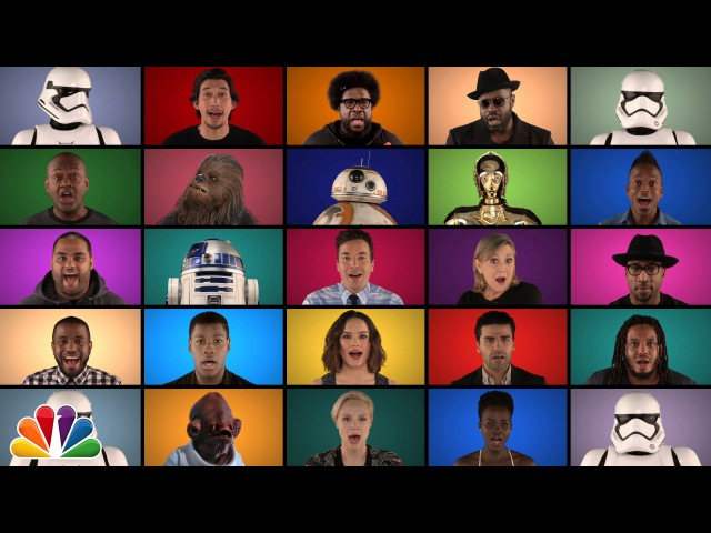 Jimmy Fallon The Roots Star Wars The Force Awakens Cast Sing Star Wars Medley A Cappella