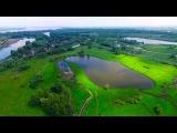 Самара. Новокуйбышевск.  Река Кривуша, озера. Очень красивое место, взгляд с высоты. Версия 2.