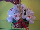 Букет из конфет в корзинке Тюльпаны с Рафаэлло
