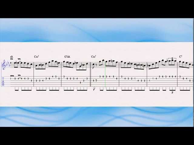 Pat Martino - Mr PC - Jazz guitar solo transcription