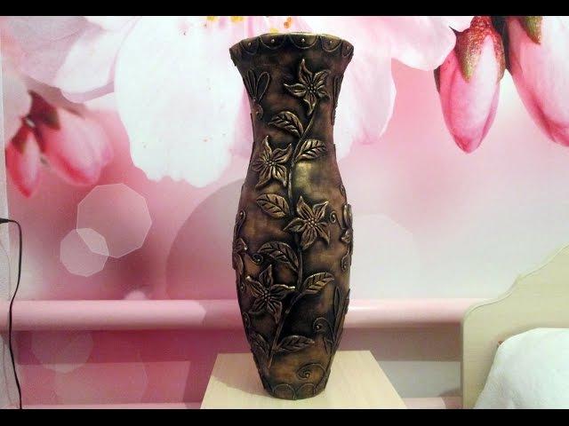 Напольная ваза своими руками. Мастер Класс (часть 2)