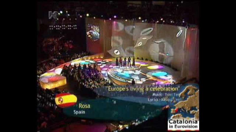 ESC Eurovision 2002 Spain - Rosa - Europe's Living A Celebration - EuroFanBcn