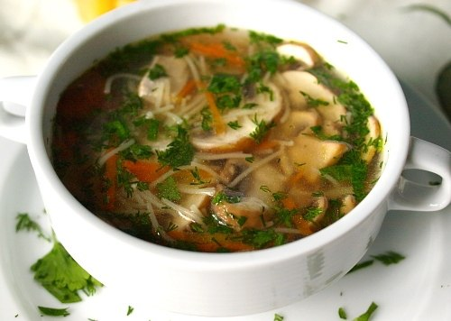 Суп грибной с шампиньонами и картофелем рецепт