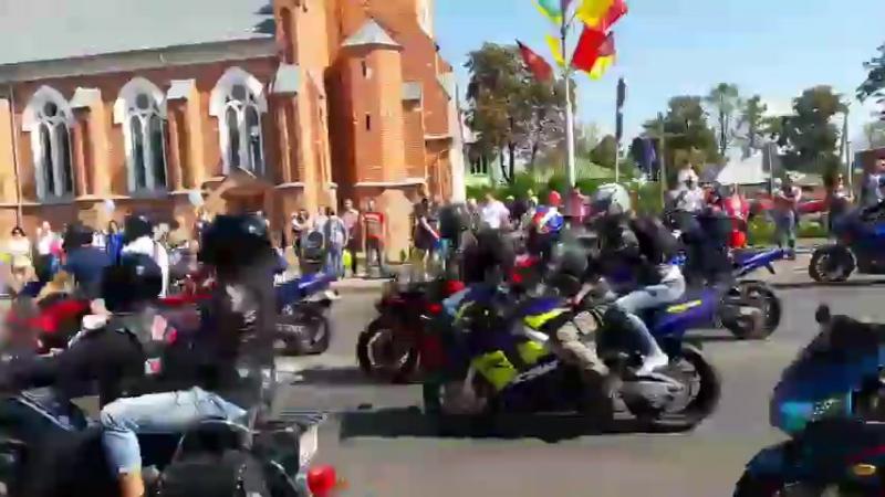 Парад мотоциклистов и ретро автомобилей. День города Речицы, 3 сентября 2016 г.