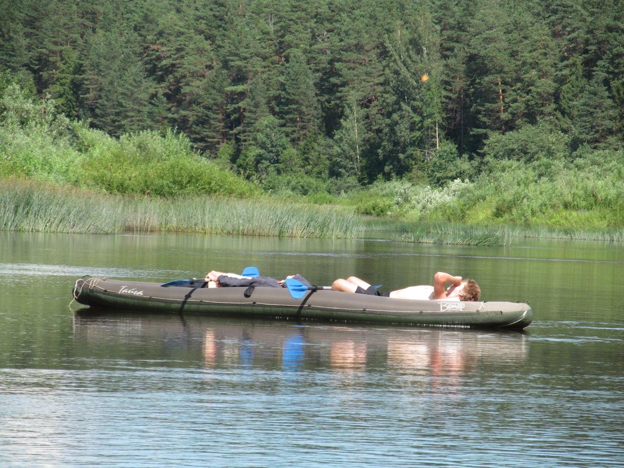 отдых   в «Тайге» на воде