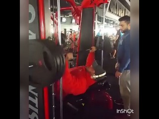 """Big Ramy on Instagram: """"My chest workout today. Getting stronger every workout. My snap Big_ramy1 تمرين صدر اليوم#TeamGAT #teamO2"""""""