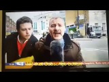 Boy interrupts Italian reporter with inflatable banana, only to be beaten with it