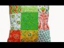 Как сшить подушку Подушка в стиле пэчворк How to sew pillow