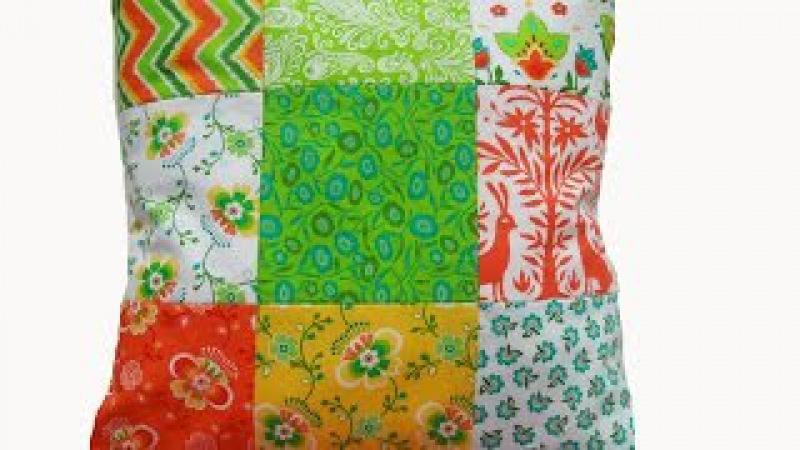 Как сшить подушку? Подушка в стиле пэчворк. How to sew pillow.