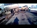 ДТП Уфа видео. На трассе М5 бензовоз улетел в кювет.  17 март 2016
