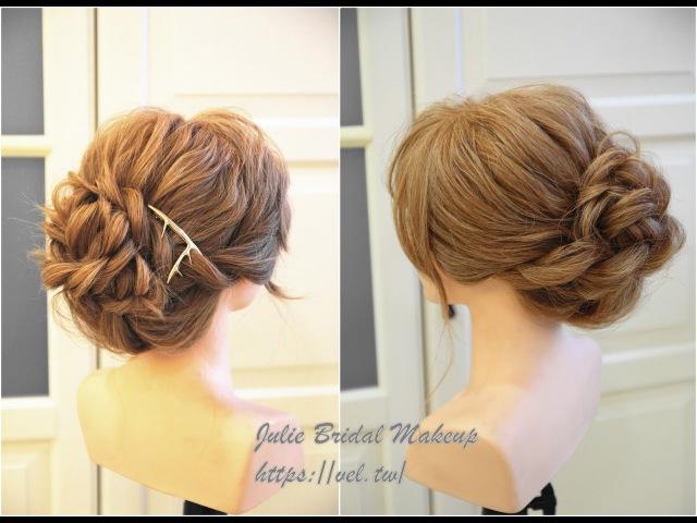 溫柔不顯老 新娘盤髮髮型教學 Bridal updo tutorial