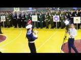 Награждение школы №2 в финале городского конкурса-смотра строя и песни 2016.