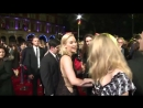 Jennifer Lawrence  Natalie Dormer kiss The Hunger Games Mockingjay Part 2 London premiere