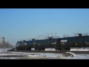 CN Mixed Freight at Portage Junction and BNSF Light Move (03032016)