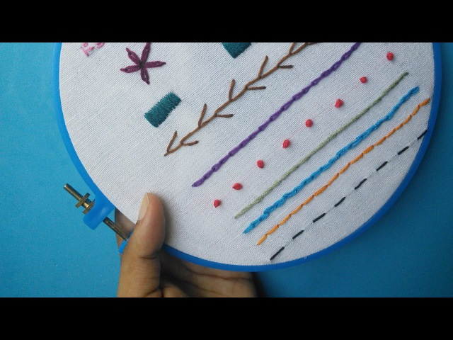 Hand Embroidery for Beginners - Part 2 | 10 Basic Stitches | HandiWorks 52