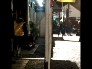 "{Broken Heart} on Instagram: ""{ BTS Video of Jen filming a scene for 5x11 on Wednesday, Oct. 28 } ~ During this seen Jen runs out of Mr. Gold's, arms up, prepared to use…"""