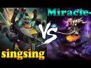 Dota 2 - singsing : Gyrocopter vs Miracle- : Invoker - Ranked Match Gameplay!