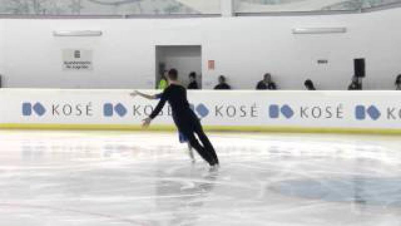 2015 ISU Junior Grand Prix - Logroño Short Dance Maria OLEYNIK / Yuri HULITSKI BLR