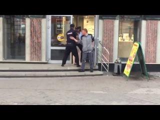 Naked man on Bauman street in Kazan