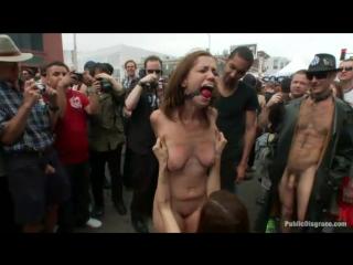 уличное унижение шлюхи