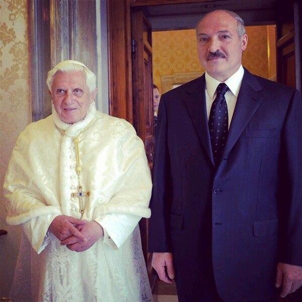 Папа римский и батя минский.