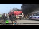 Пожар в «джунглях»: в незаконном лагере для беженцев в Кале сгорело несколько строений