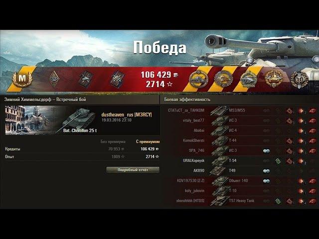 Bat Châtillon 25 t. Покуролесил на славу по Химкам Респект!! Лучший бой World of Tanks