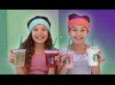 The Starbucks Challenge! (Haschak Sisters)