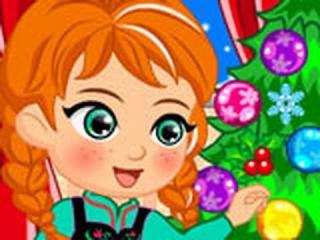Игра Новый Год Анны! Анна и ОЛОФ ОНЛАЙН бесплатно! Игра для девочек! Мультфильм!