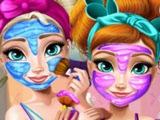 ОНЛАЙН игра ХОЛОДНОЕ сердце!  Реальный макияж Эльзы и Анны! Игры для девочек! МУЛЬТФИЛЬМ!