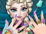 Игра спа-салон для ногтей Эльзы Холодное Сердце! Развивающие игры для детей ОНЛАЙН! МУЛЬТФИЛЬМ!