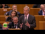 You are not laughing now, are you Nigel Farage at European Parliament (FULL SPEECH)