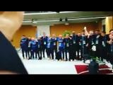 Один из эмоциональных моментов Евро2016...Azzurri поют гимн после матча с Испанией