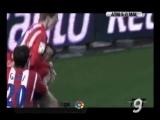Gol de Torres (1-0) Atlético de Madrid 5 - Málaga 0 (Primera división). 25-02-06