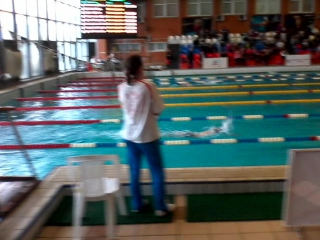 я на 7 дорожке плыл и занял 1 место!!кто плыл сомной они намного от меня отстали.