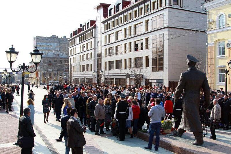 ВБрянске прошел митинг, посвященный Дню Космонавтики