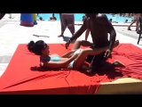 Animation by the hotel pool in France - Анимация во французском отеле :)