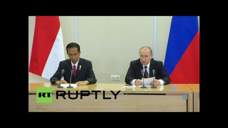 Russia Putin and Widodo tout joint counter terror cooperation